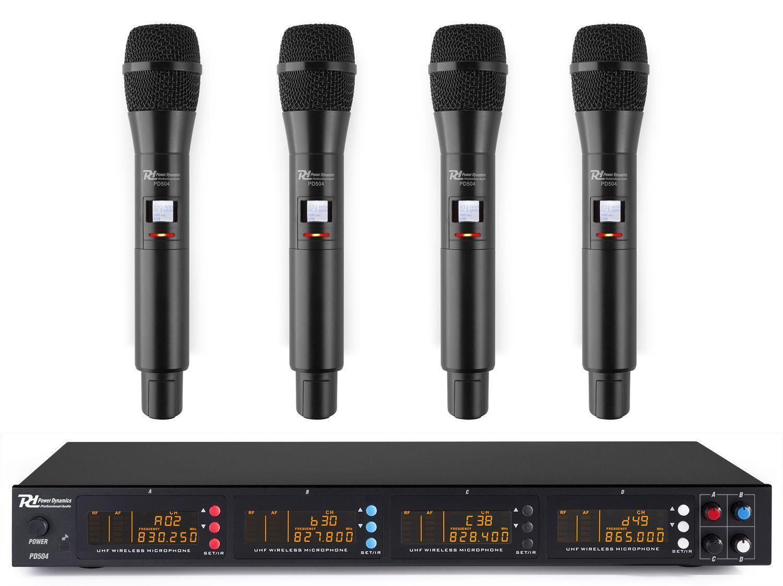 Afbeelding van Power Dynamics PD504H draadloos microfoonsysteem met 4 microfoons...