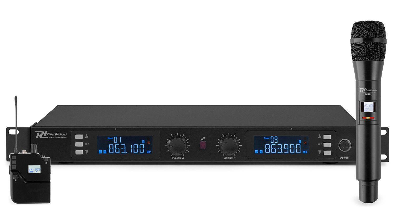 Afbeelding van Power Dynamics PD632C draadloos microfoonsysteem UHF met hand en heads...