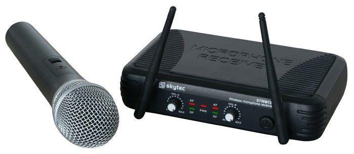 SkyTec STWM722C 2-kanaals UHF Draadloos Microfoonsysteem