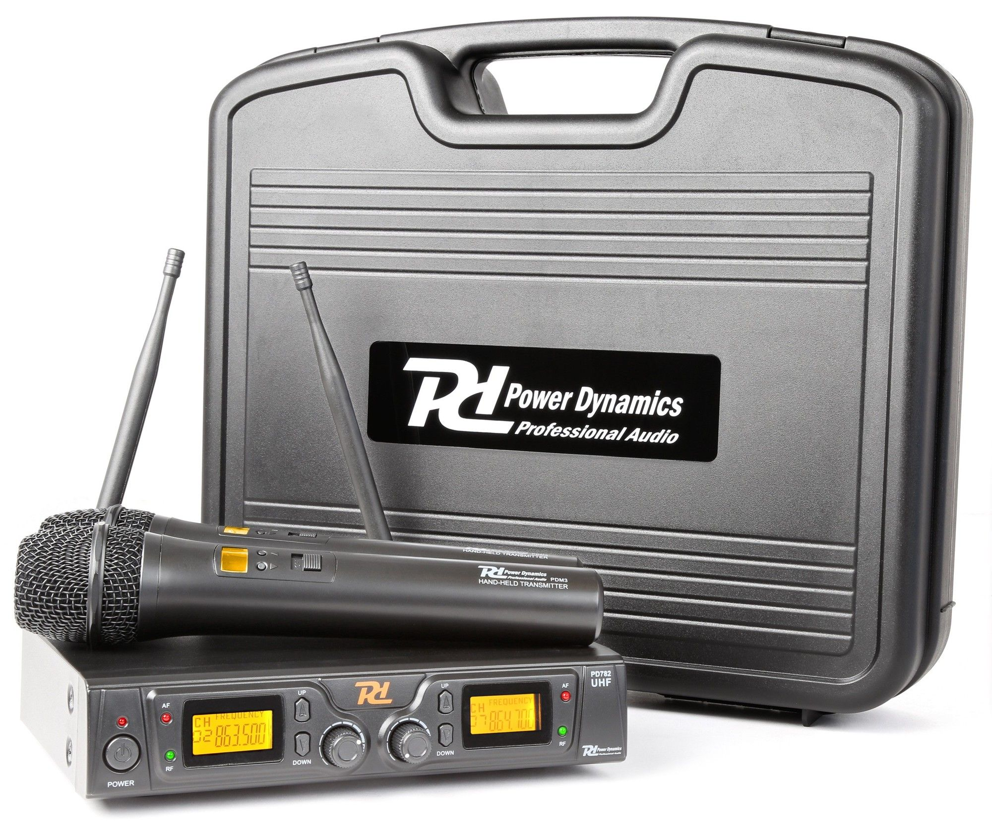 Afbeelding van Power Dynamics PD782 (UHF) Draadloos microfoonsysteem duo...