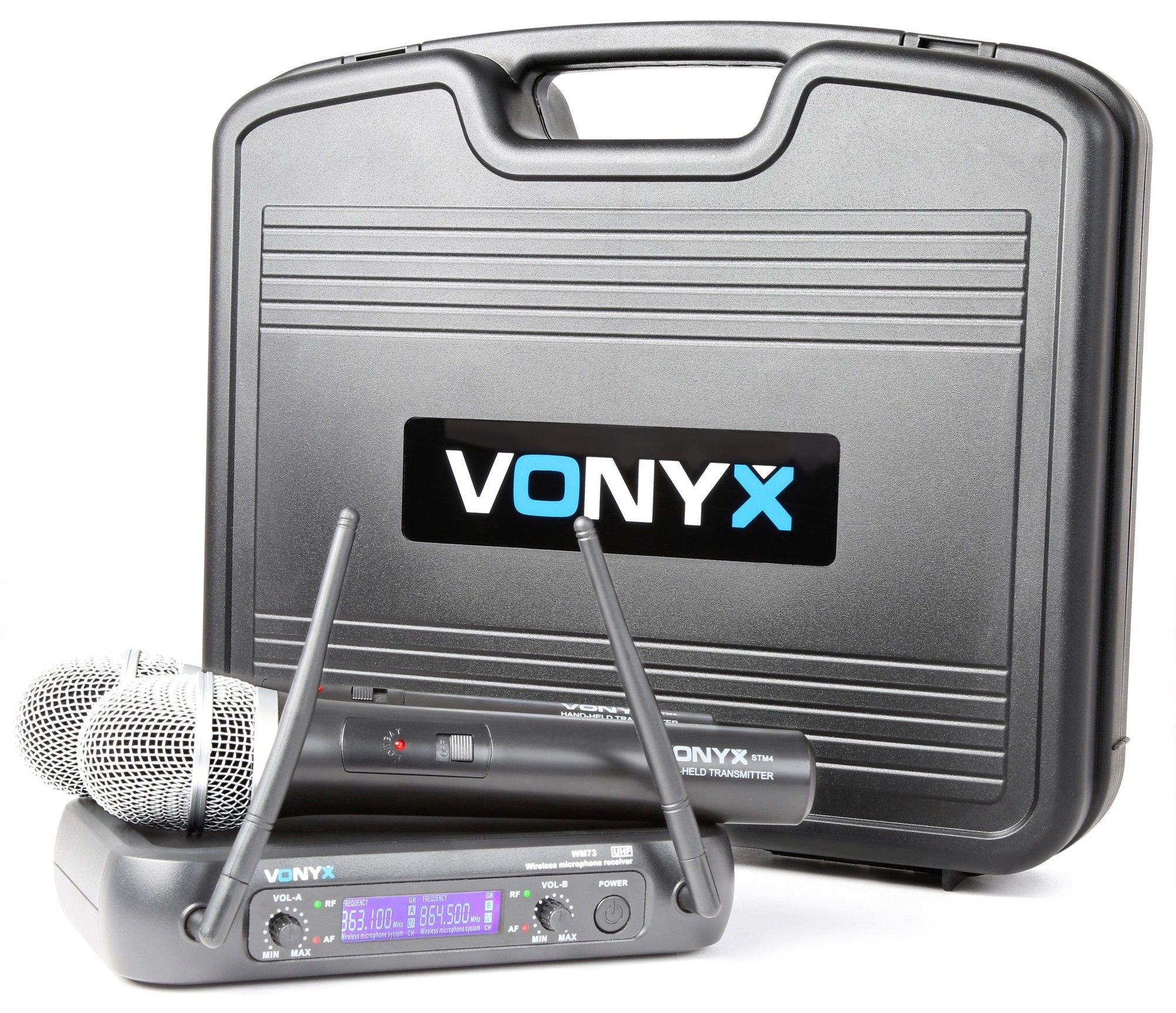 Afbeelding van 2e keus - Vonyx WM73 Draadloze microfoon UHF - Dubbel...