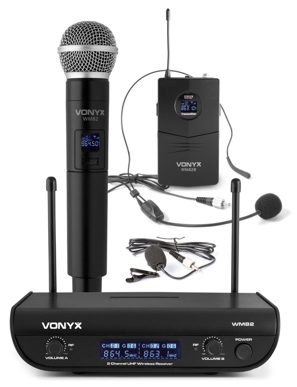 Afbeelding van 2e keus - Vonyx WM82C draadloze UHF microfoonset met handmicrofoon en ...