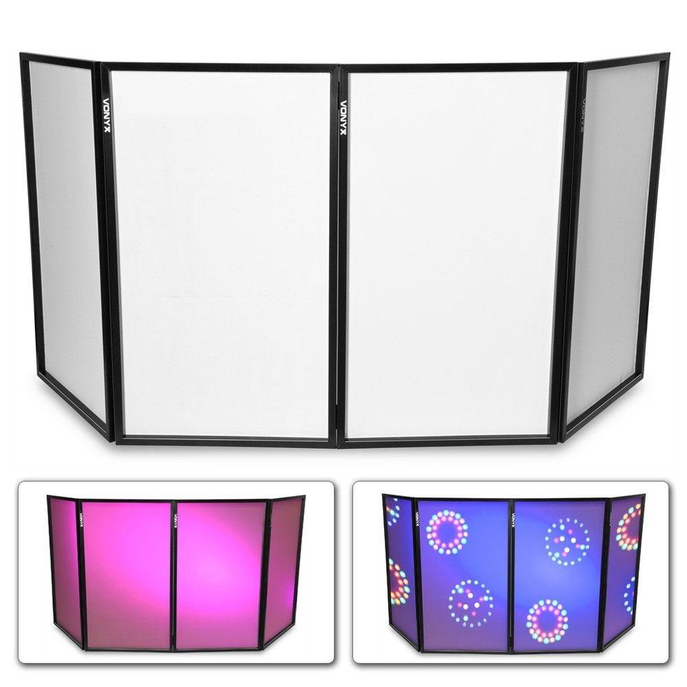 Vonyx opvouwbaar DJ scherm - 280 x 120cm totaal