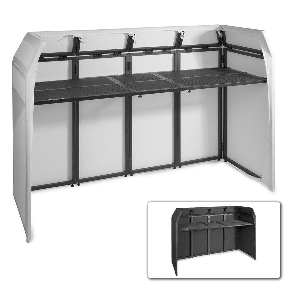 Afbeelding van Vonyx DB5 DJ Booth XL met zwarte en witte Lycra doeken...