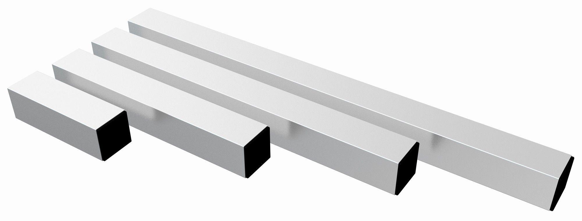 Afbeelding van Power Dynamics Aluminium poten vierkant 60cm (Set van 4 stuks)...
