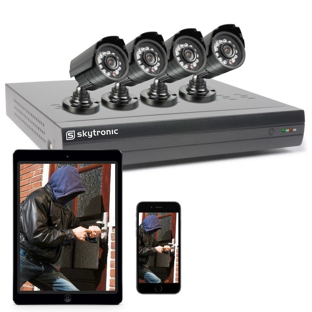 Afbeelding van 2e keus - SkyTronic beveiligingscamera voor buiten (set van 4 camera\'...