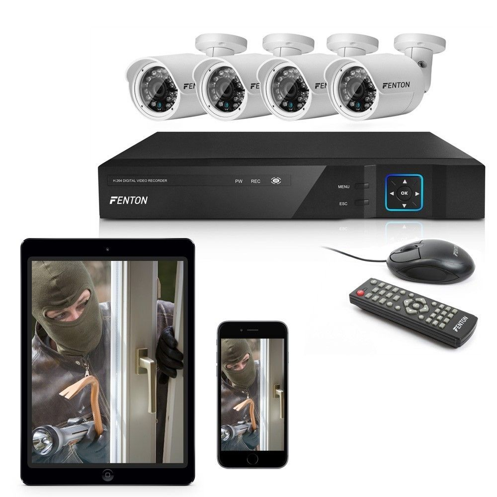 Afbeelding van Fenton HD Bewakingssysteem met 4 Hoge-resolutiecamera\'s...