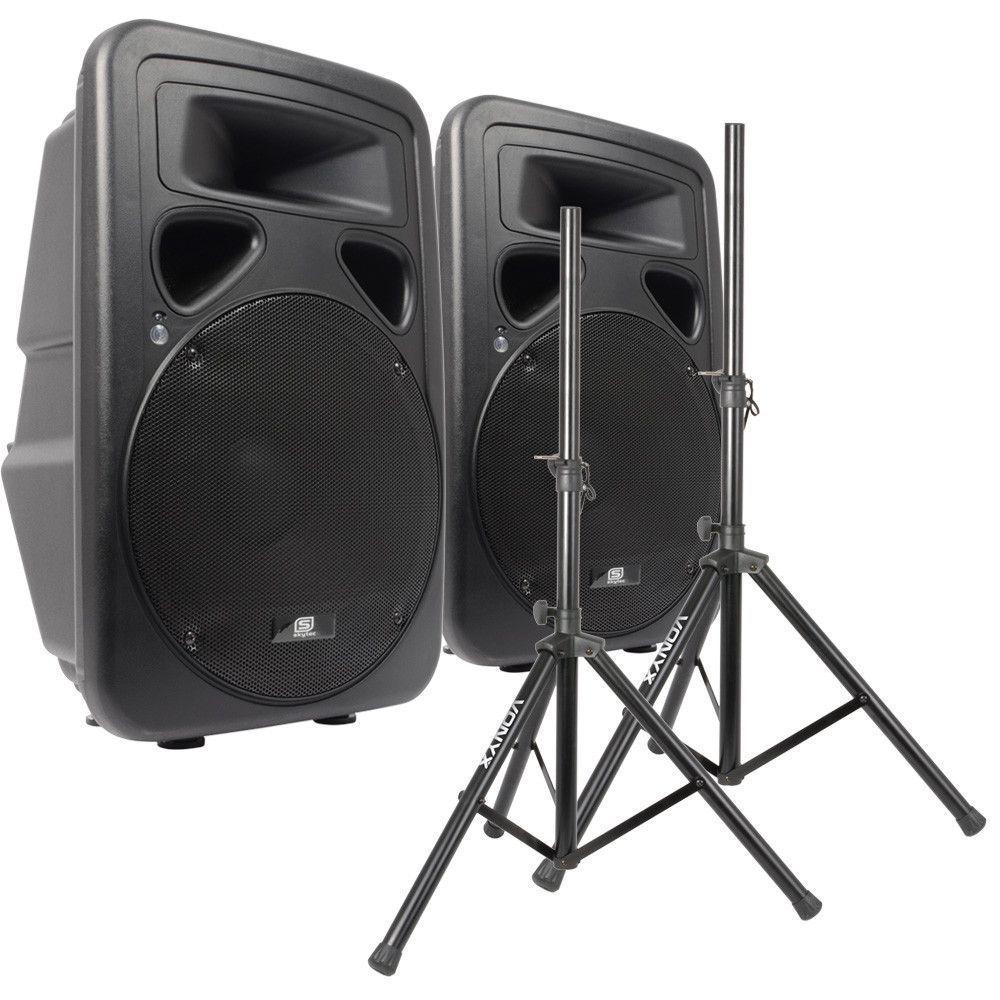 Paar ABS Actieve PA Luidsprekers 15 met Standaards 1600W