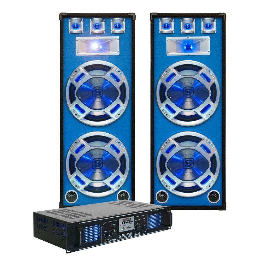 Complete 2000w Dj Set Met Pa Versterker En Disco Luidsprekers SkyTec kopen