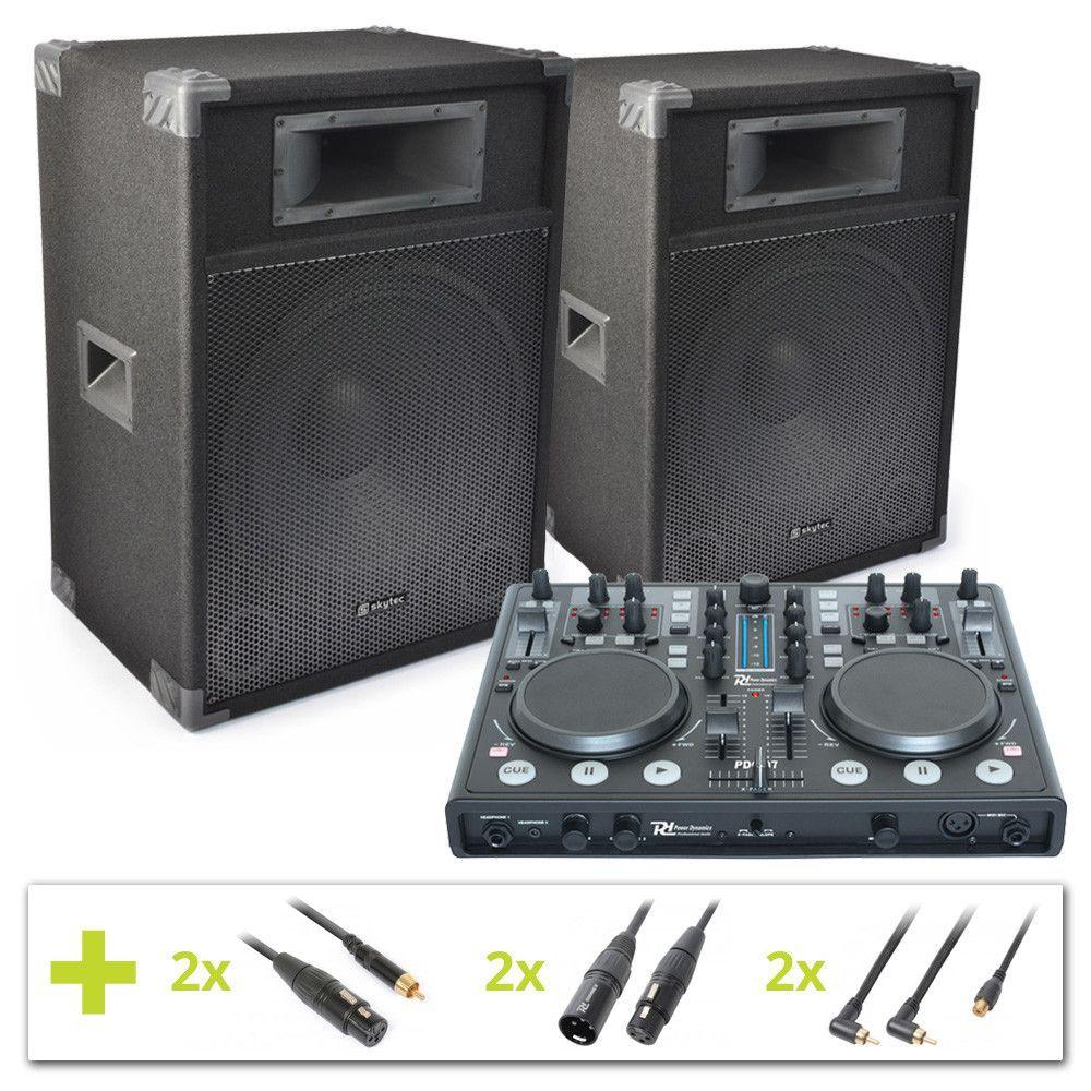 Power Dynamics PDC-07 Actieve DJ Controller Set CSB15 - 1600W