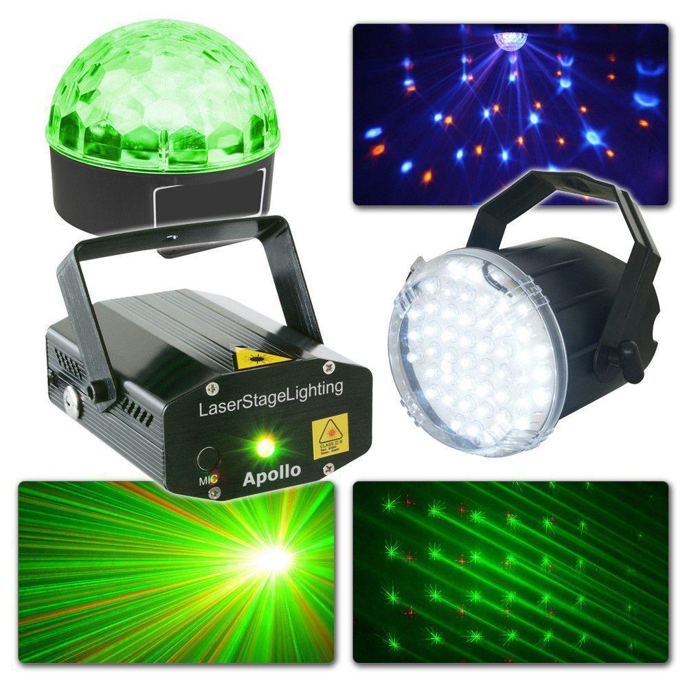 Afbeelding van BeamZ Complete Lichtset met Laser, Jelly Ball en stroboscoop...