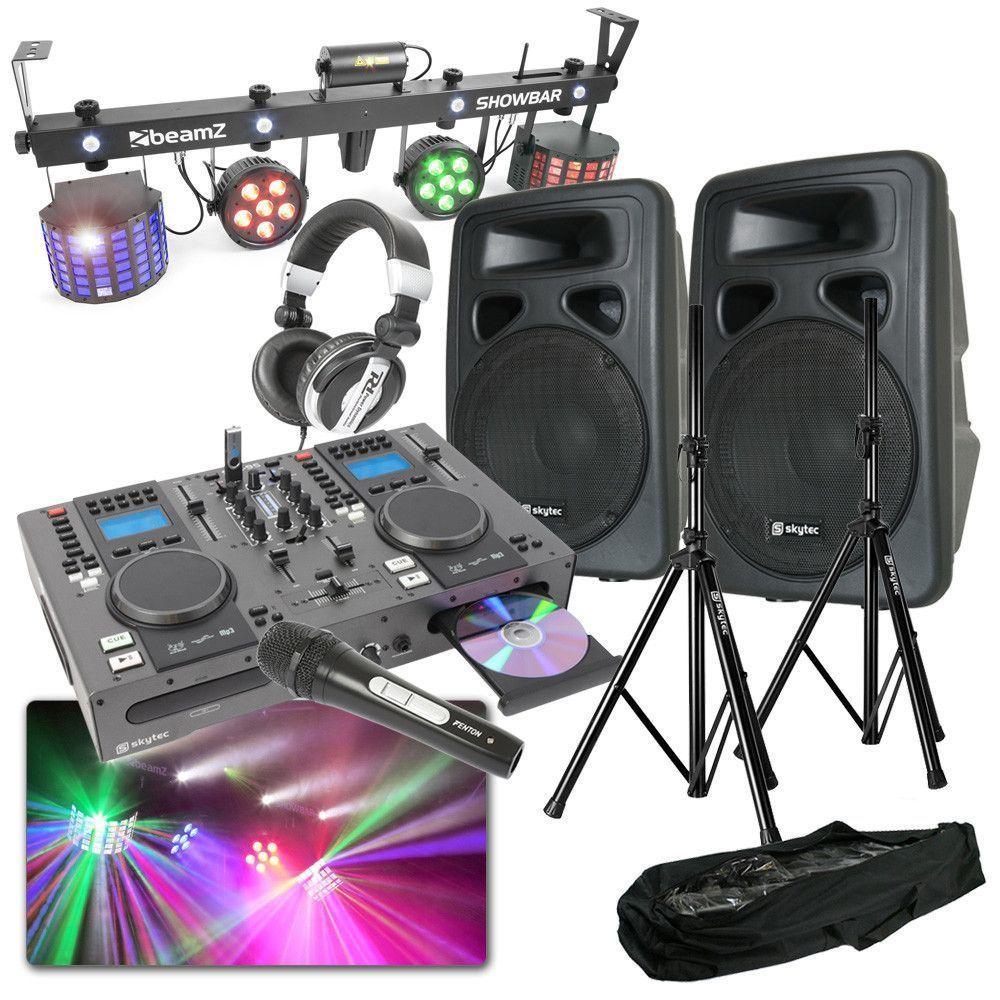Complete DJ set met licht en geluid! Start met je eigen disco!