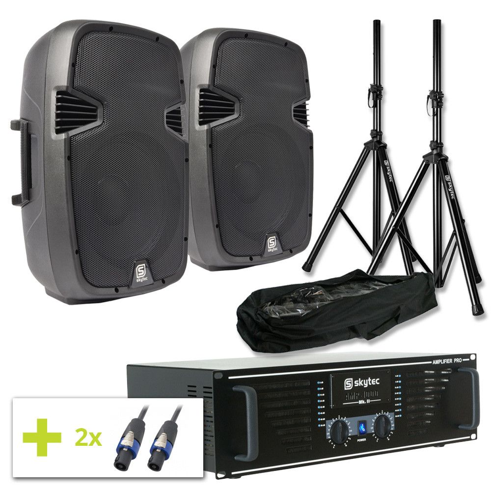 Dagaanbieding: SkyTec SPJ1200 complete geluidsset 800W incl. standaards