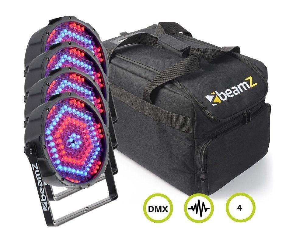 BeamZ Parrenset 4x in Flightbag
