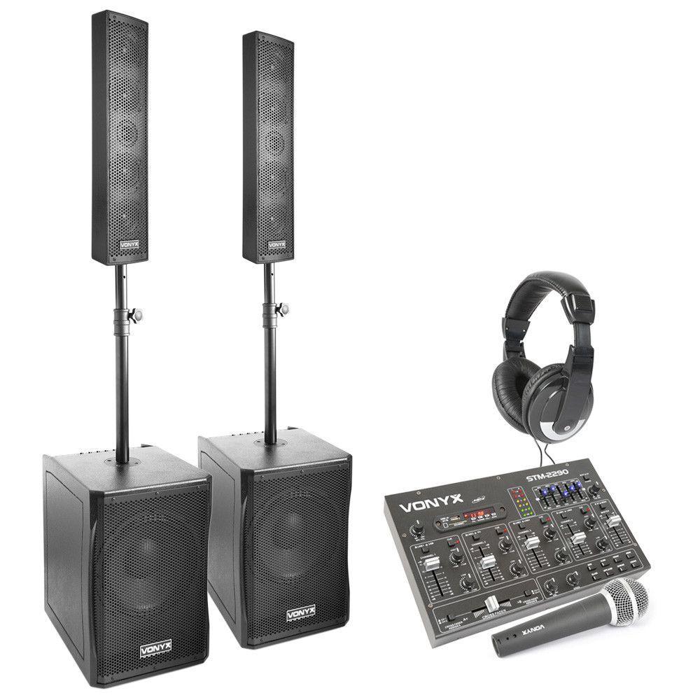 Complete Vonyx 2.2 geluidsinstallatie 1500W met bluetooth mixer