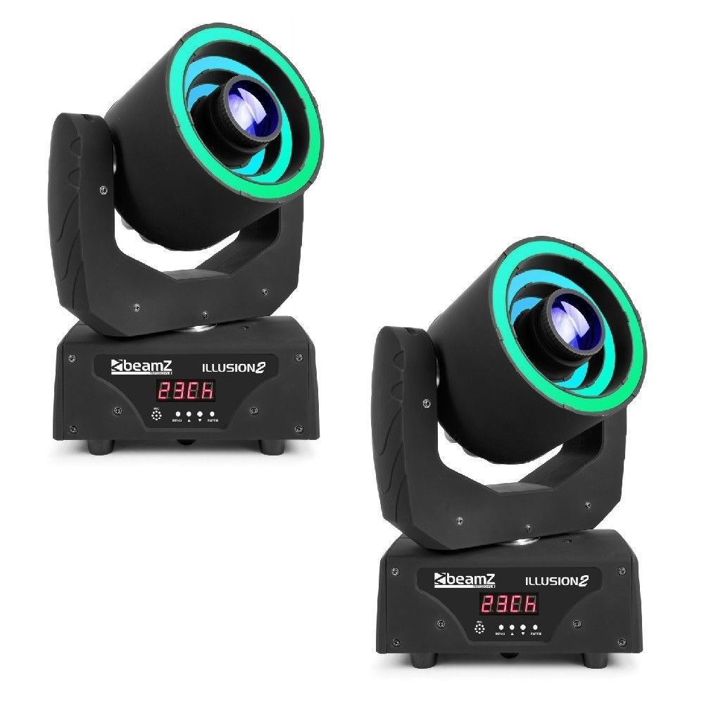 Set van 2 BeamZ Illusion II moving heads met LED ringen