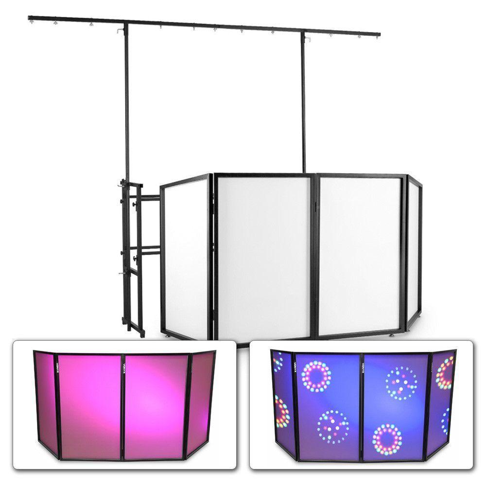 Vonyx mobiele DJ Booth met meubel, scherm en lichtbrug