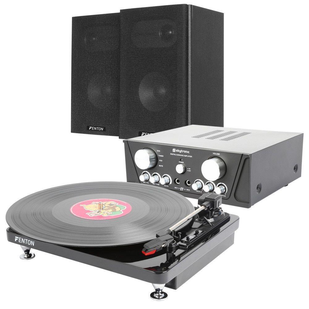 Afbeelding van Fenton Elegante Stereo Set met RP120 pianolak finish Platenspeler...