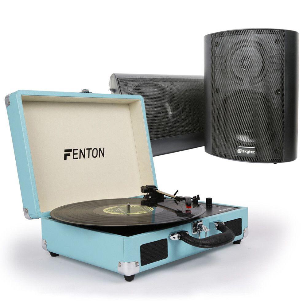 Dagaanbieding: Fenton RP115 platenspeler HiFi set met speakers