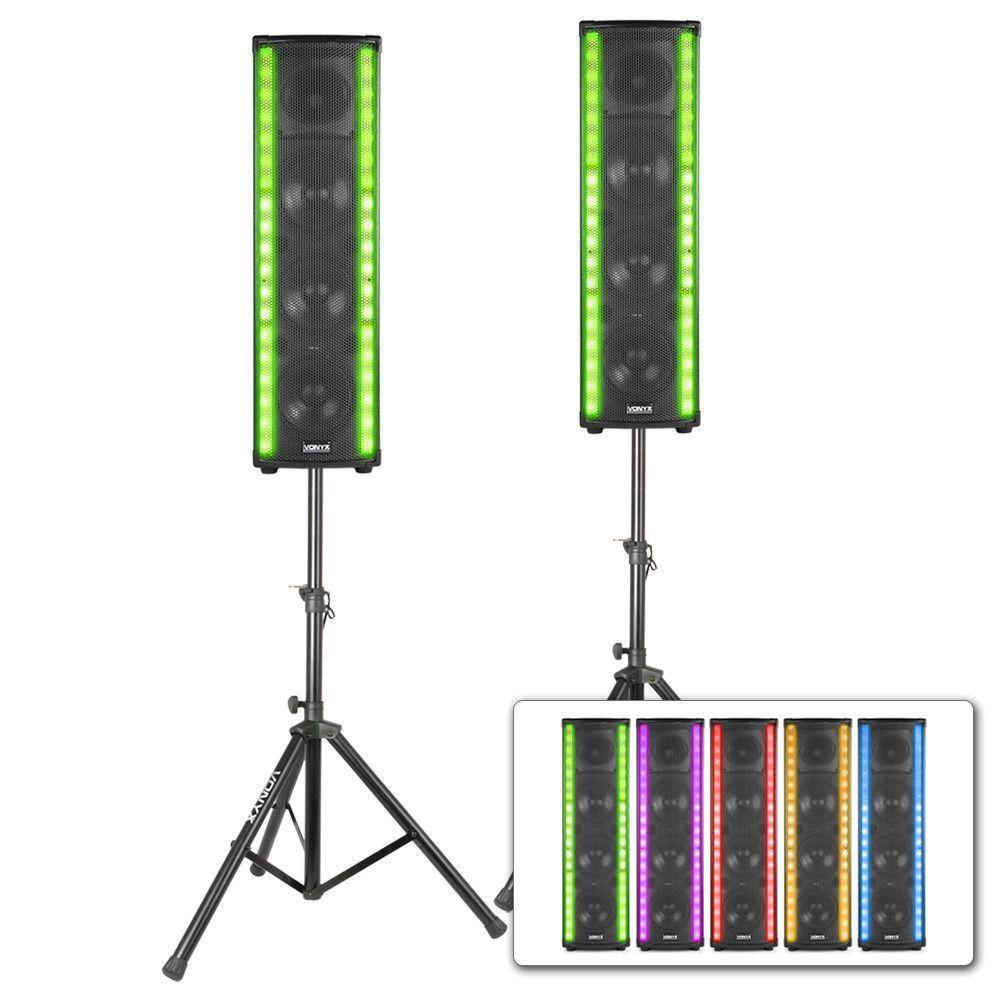 Dagaanbieding - Vonyx LM65 LightMotion bluetooth Speakerset met LED lichteffect dagelijkse koopjes