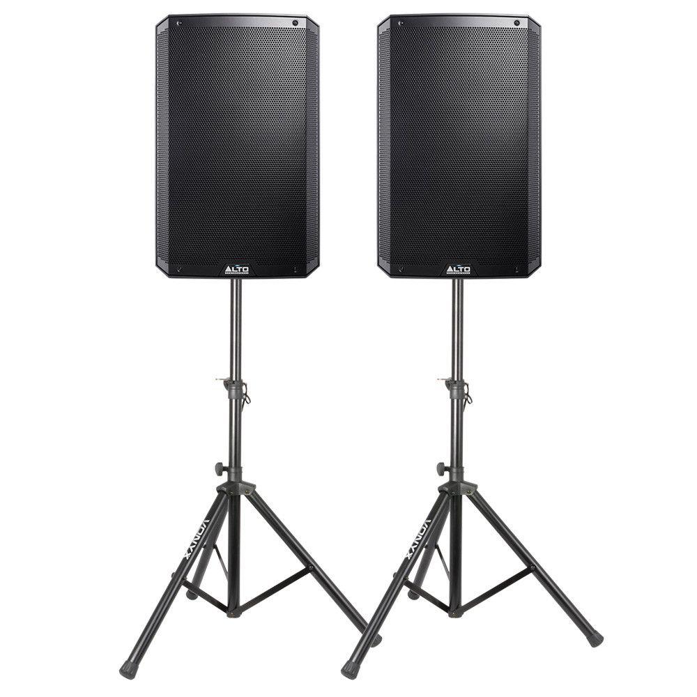 """Afbeelding van Alto Pro Truesonic TS215W actieve 15"""" speakerset met standaards..."""