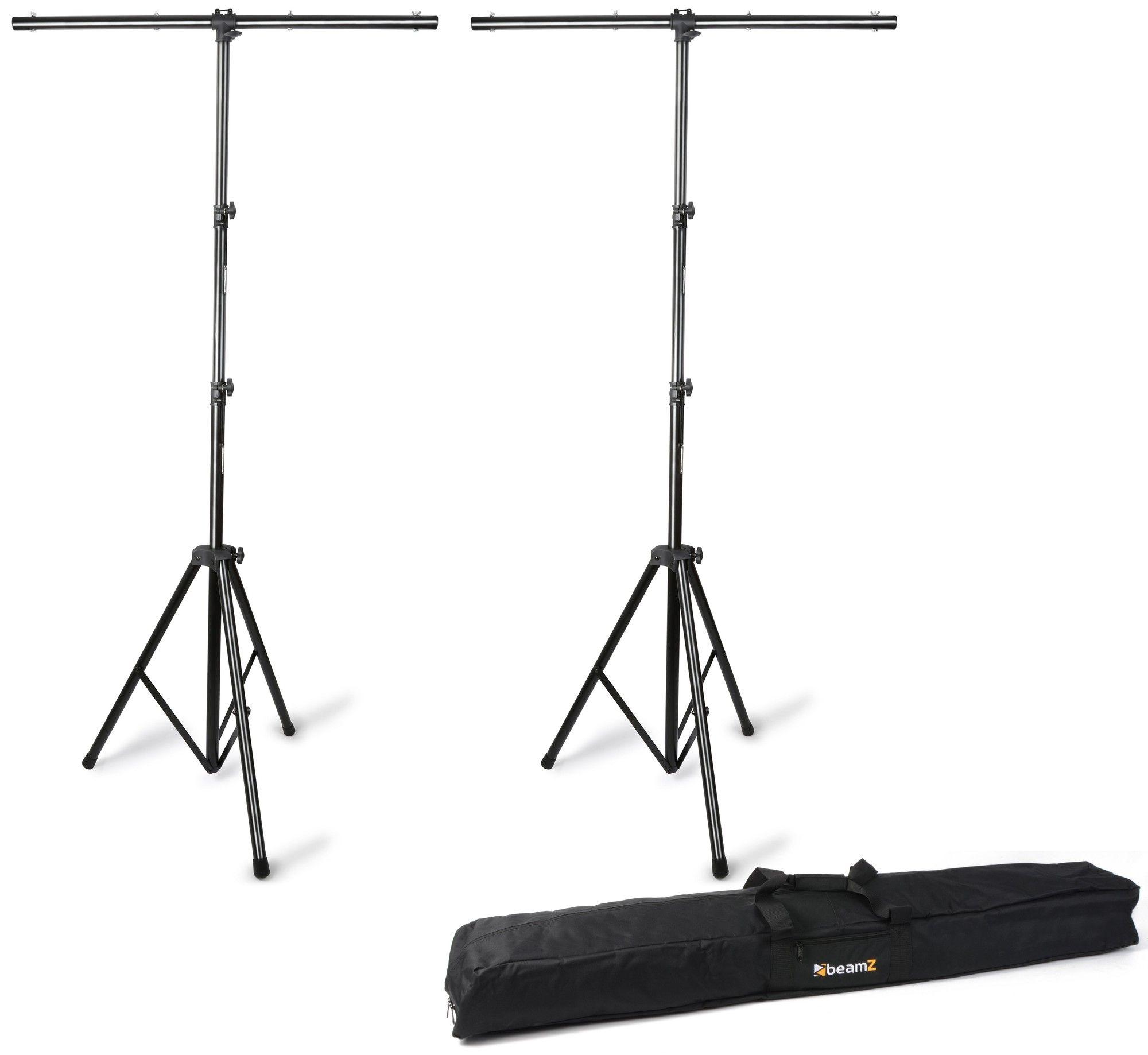 Afbeelding van BeamZ T-bar statieven (2x) met flightbag (max hoogte 3.5mtr)...