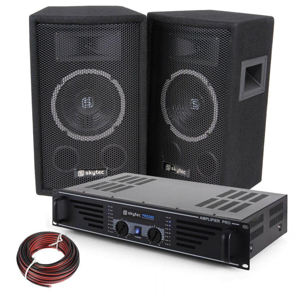 DJ Luidspreker en Versterker combinatie 300W