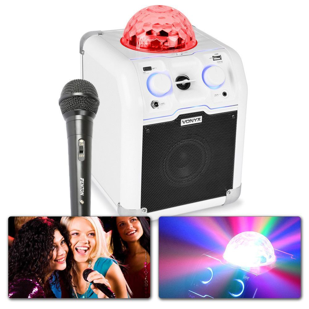 Dagaanbieding: Vonyx SBS50W karaoke set met echo en Bluetooth