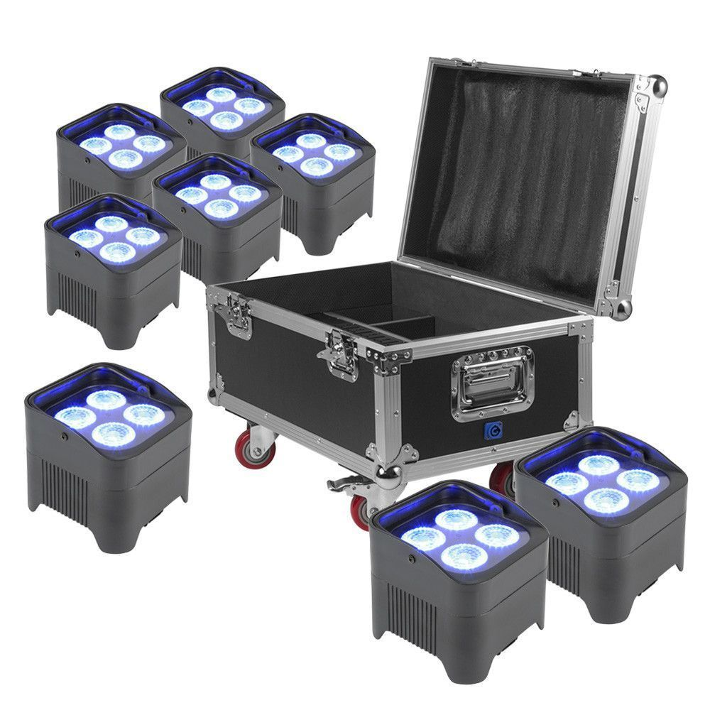 Afbeelding van BeamZ BBP94 Uplight set van 8x BBP94 in FCC9 flightcase...