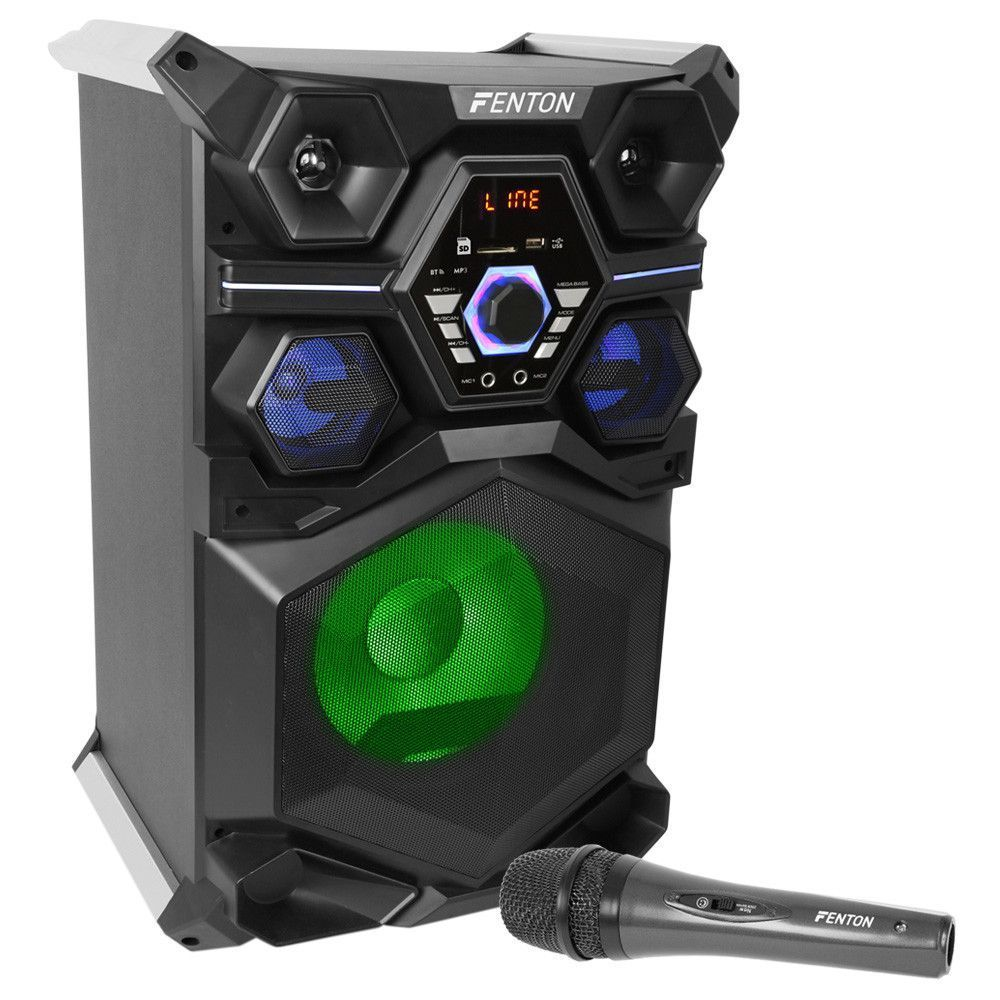 Fenton LIVE101 karaoke partystation met microfoon echo en Bluetooth