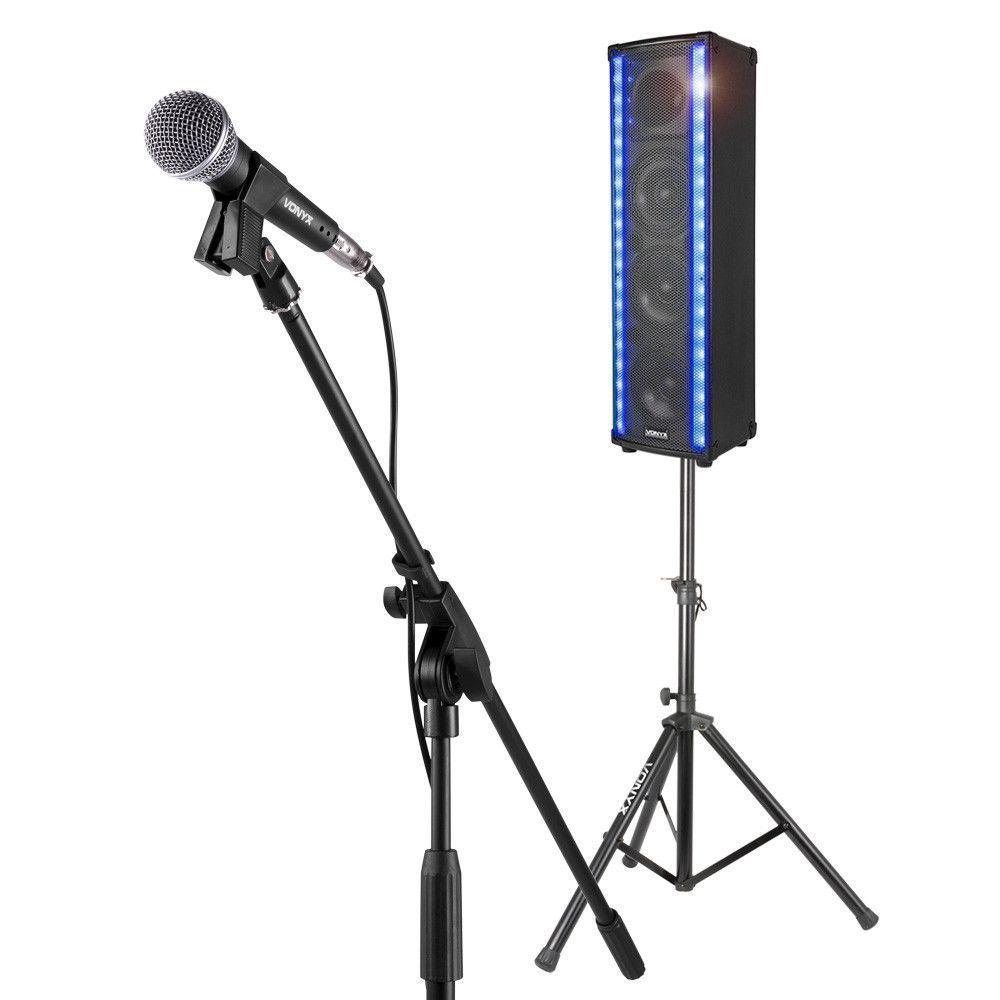 Dagaanbieding - Vonyx karaokeset met LM80 LightMotion speaker en standaard dagelijkse koopjes