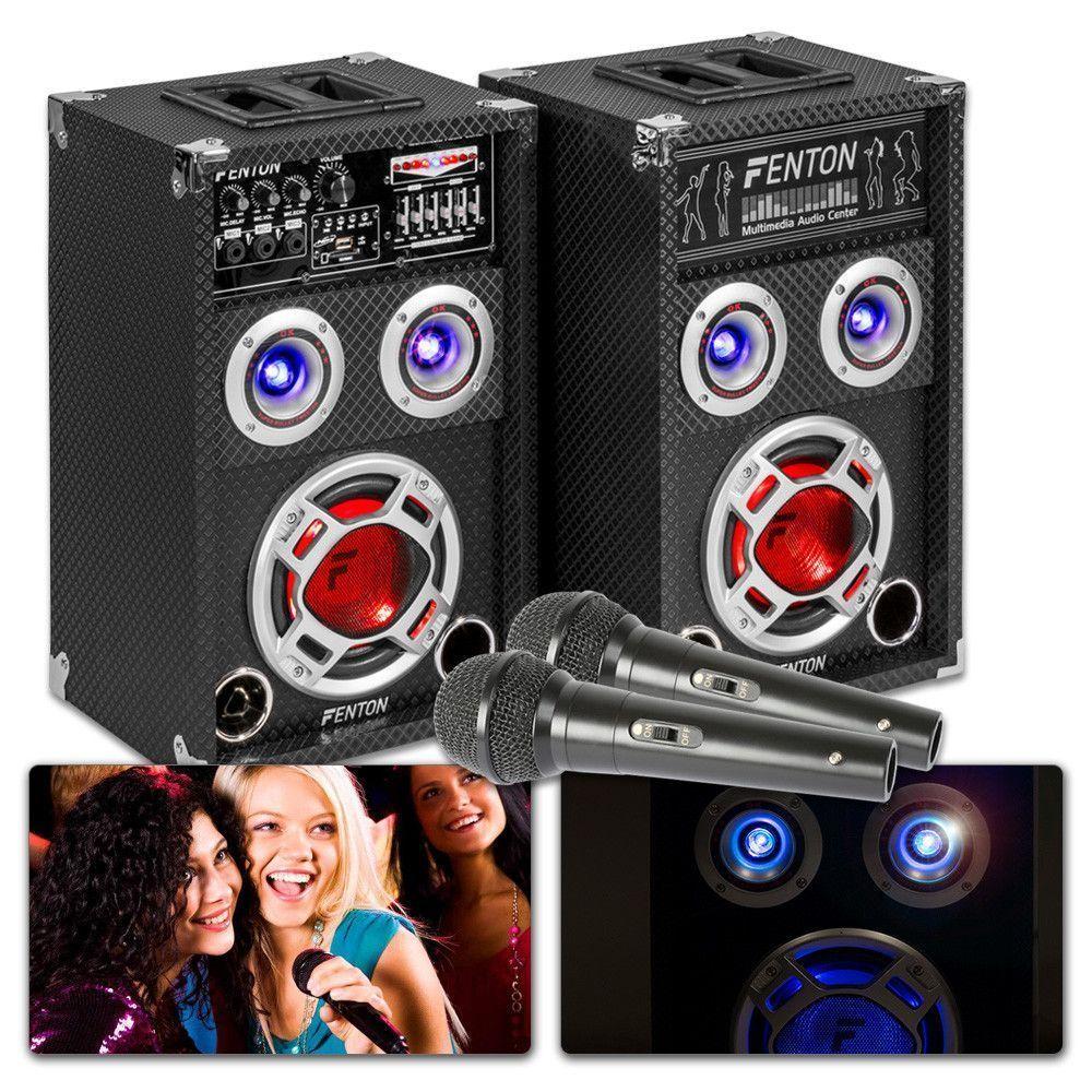 Dagaanbieding - Fenton KA-06 Karaoke Set met 2 microfoons, echo en Bluetooth dagelijkse koopjes