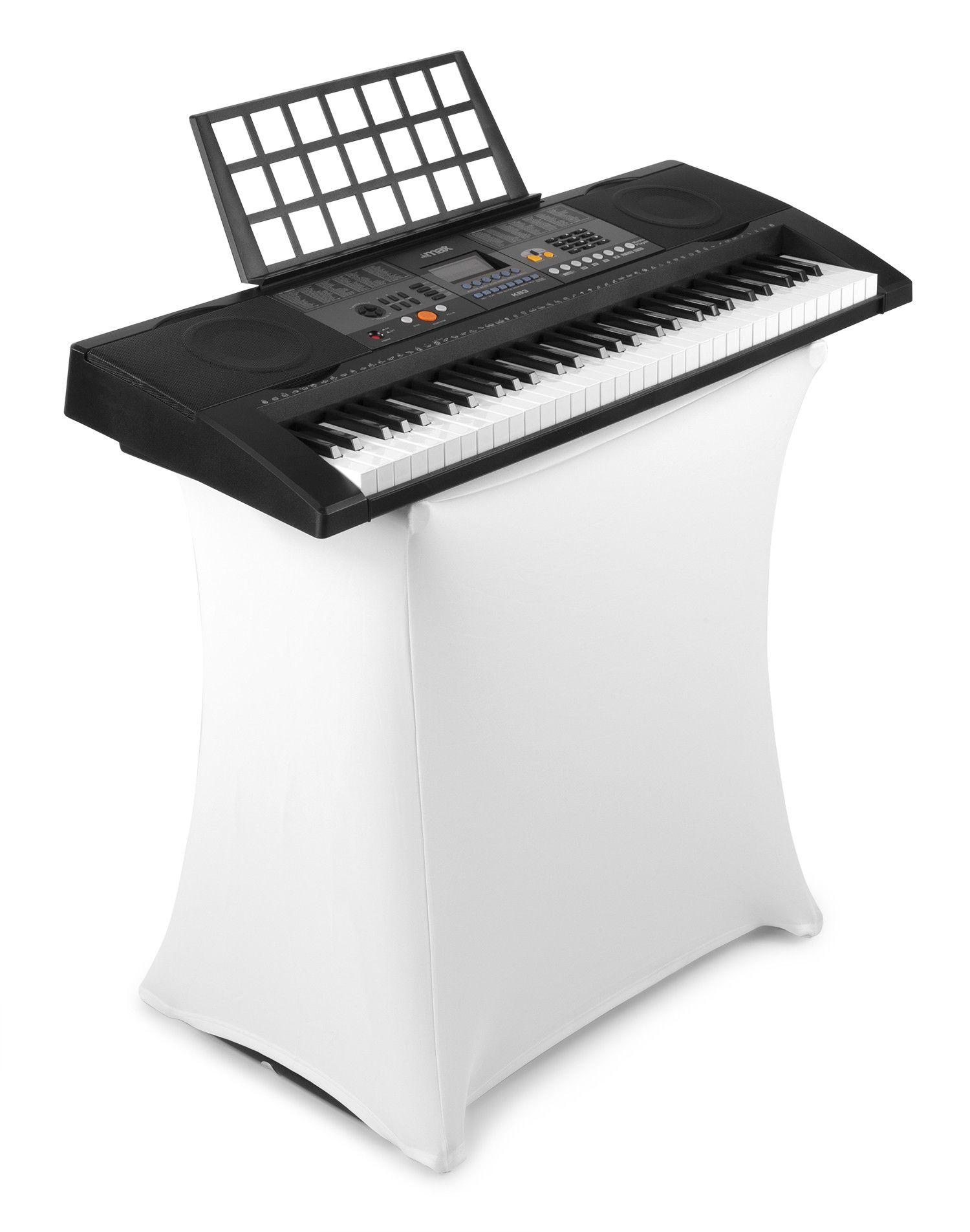 Afbeelding van MAX KB3 Aanslaggevoelig Keyboard met standaard en hoes...