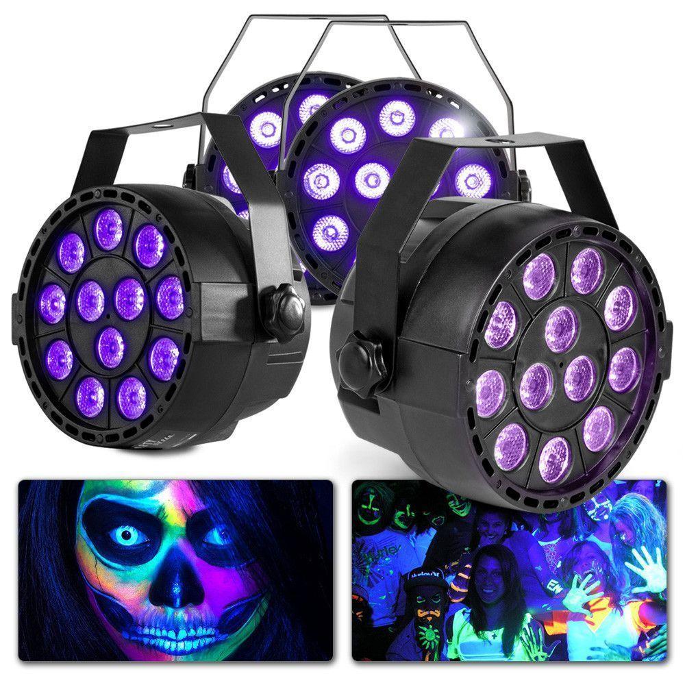 Afbeelding van Blacklight set met 4 MAX LED PartyPars...