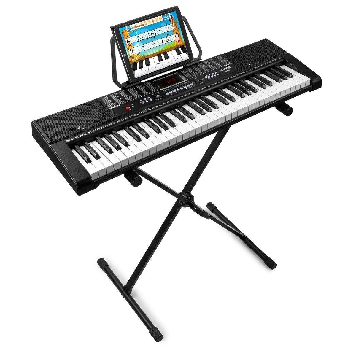 MAX KB2 keyboard met 61 toetsen, trainingsfunctie en keyboardstandaard