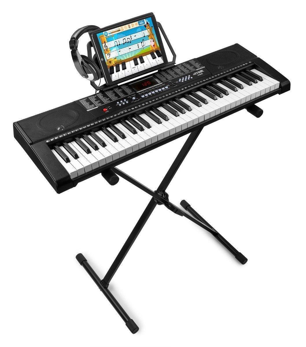 MAX KB2 keyboard met 61 toetsen, keyboardstandaard en koptelefoon