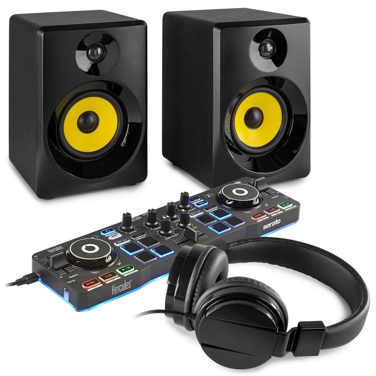 Hercules DJControl Starlight DJ set met actieve speakers - Zwart