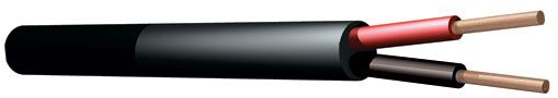 100V Luidsprekerkabel 2x 1.5mm 15A - Zwart - 100 meter rol