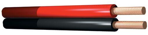 Rood/Zwart kabel 0.75mm - 2 aderig - Rol van 100 meter