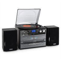 Auna Stereotoren met platen- CD, USB en SD speler en Cassette