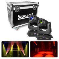 BeamZ Set van 2 IGNITE180 spot LED Moving Heads in Flightcase
