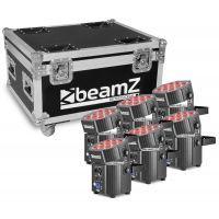 2e keus - BeamZ BBP60 Uplighter set met 6 draadloze spots in flightcase