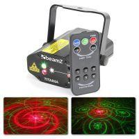 Titania Double Laser Gobo 200mW rood en groen met afstandsbediening
