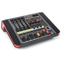 Power Dynamics PDM-M404A 4 kanaals muziek mixer / versterker
