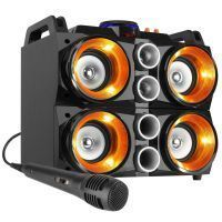 Fenton MDJ200 karaokeset150W op accu met Bluetooth en LED's