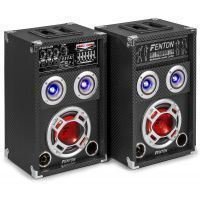 Fenton KA-06 actieve karaoke speakerset 400W met Bluetooth en LED's