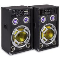 Fenton KA-12 actieve karaoke speakerset 1200W met Bluetooth en LED's