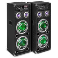 Fenton KA-28 actieve karaoke speakerset 1200W met Bluetooth en LED's
