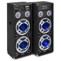 Fenton KA-210 actieve karaoke speakerset 1600W met Bluetooth en LED's