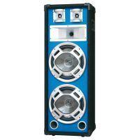 "2e keus - SkyTec PA DJ Luidspreker blauw 2 x 8"" 600W met Disco LED Verlichting"